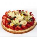Tarte aux fraises et autres fruits frais